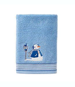 Toalla de baño SKL Home Snow Buddies color azul