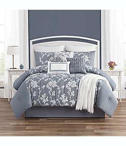 Set de edredón queen de poliéster WC Home Fashions Camilla color azul