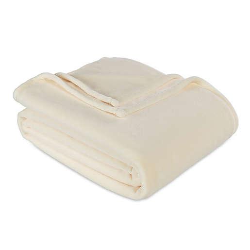Berkshire Blanket Serasoft Twin Plush Blanket (Cream)