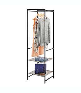 Organizador de acero Whitmor para armario color negro