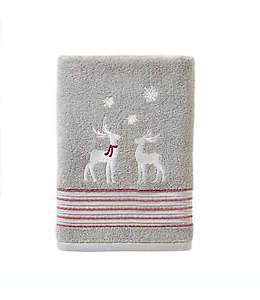 Toalla de medio baño de algodón  SKL Home invernal color plata