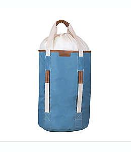 Bolsa para ropa sucia de poliéster CleverMade® con asas color azul