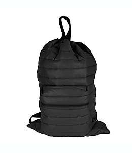 Bolsa para ropa sucia de poliéster CleverMade® Puffer tipo mochila color negro