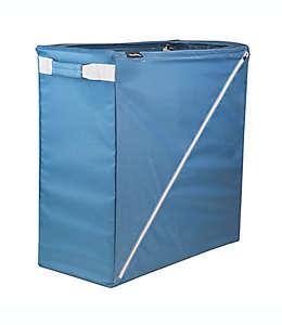 Cesto para ropa sucia plegable de acero CleverMade® Sparrow color azul