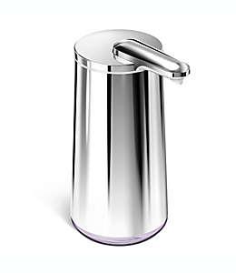 Dispensador de jabón en espuma de acero inoxidable simplehuman® con sensor con acabado pulido