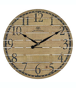 Reloj de pared Bee & Willow™ Home color café nogal