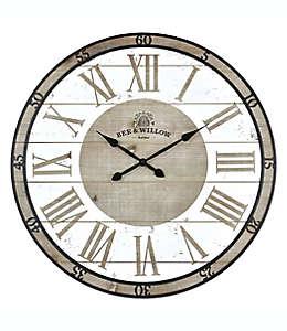 Reloj de pared Bee & Willow™ Home color gris/blanco