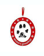 Portarretratos con marco de madera Pearhead® para mascotas color rojo