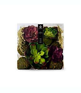 Planta de poliuretano Vunder™ suculenta decorativa color natural