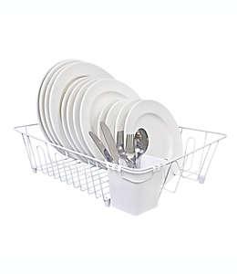 Escurridor para trastes de alambre SALT™ grande color blanco