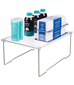 Estante para baño de plástico iDesign® apilable