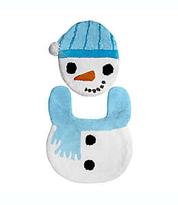 Juego de baño navideño con muñeco de nieve