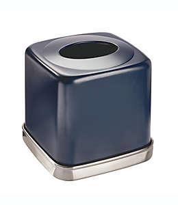 Dispensador de pañuelos de cerámica InterDesign® York color azul marino/níquel cepillado
