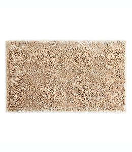 Tapete para baño de poliéster SALT™ de nudo grueso color arena