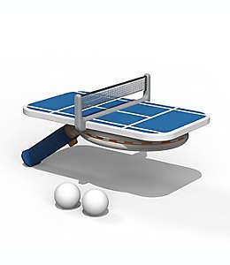 Juego de ping pong portátil de plástico color café bronceado