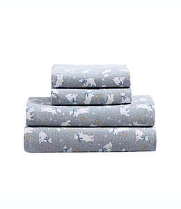 Set de sábanas queen de franela Casual Living con estampado de osos polares