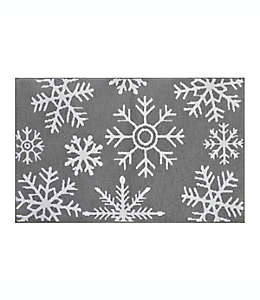 Tapete para baño WW Snowflake Silver de 50.8 x 83.82 cm
