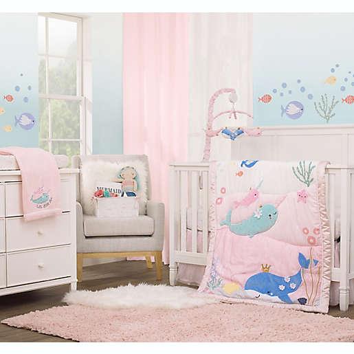 Sea Whimsy 4 Piece Crib Bedding Set, Baby Bedding Under The Sea