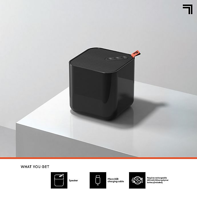 Sharper Image Mini 3 Portable Bluetooth Color Changing Led Speaker In Black Bed Bath Beyond