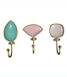 Ganchos de aleación de zinc Wild Sage™ decorativos con diseño de gemas