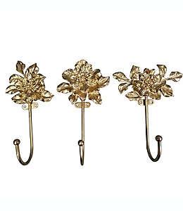 Ganchos de aleción de zinc Wild Sage™ decorativos con diseño floral
