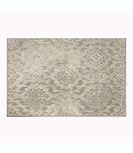 Tapete decorativo de poliéster Eden Cordial 68.58 cm x 1.06 m color gris