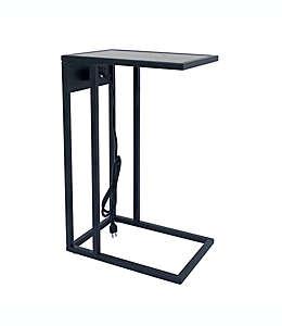 Mesa auxiliar en forma de C color negro