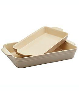 Refractarios de cerámica Our Table™ rectangulares color peyote
