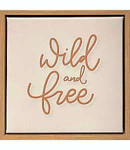 Cuadro decorativo de madera Wild Sage™ Wild and Free