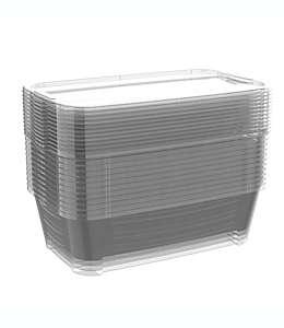 Zapateras de polipropileno Simply Essential™ color transparente, 12 pzas