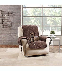 Funda para sillón reclinable de poliéster Sure Fit color chocolate