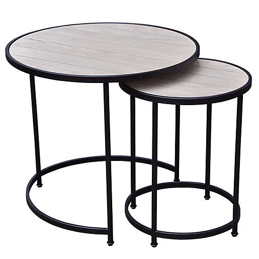 Bee & Willow Home 2-Piece Round Nesting Side Table Set