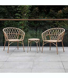 Muebles de acero para exteriores Bee & Willow™ Home Steel X Set de 3 piezas