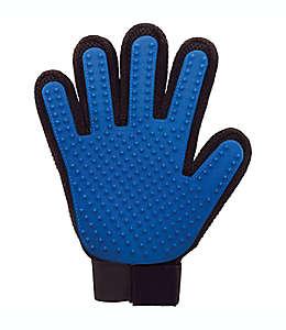 Guante cepillo de silicón para mascotas True Touch® color azul