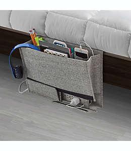 Organizador de poliéster Squared Away™ para cama color gris