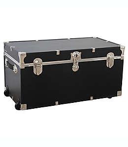 Caja de almacenamiento de madera Seward Trunk® Seward Traveler con ruedas