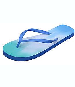 Sandalias para mujer G de hule Wild Sage™ Francesca Ombre color azul, talla 26-27