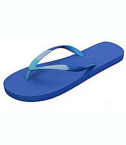Sandalias para mujer G de hule Wild Sage™ Onika Ombre color azul regata, talla 26-27