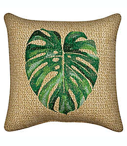 Cojín decorativo de poliéster W Home con hoja de palmera
