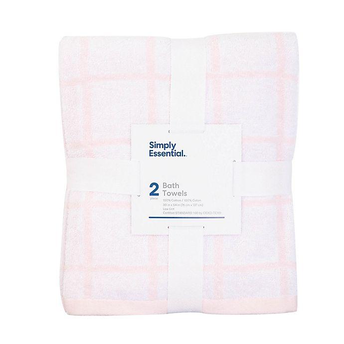 Bed Bath & Beyond: 2-Pack Cotton Bath Towels $5.00
