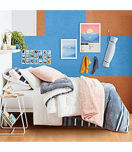 Set de edredón king de tela polar UGG® Avery reversible color blanco nieve