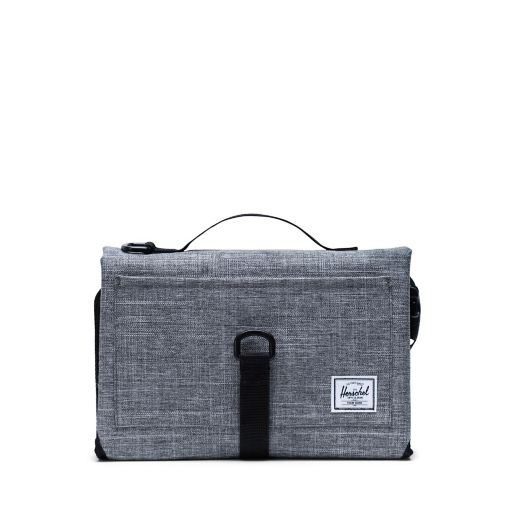 Herschel Supply Co.® Sprout Portable Changing Mat in Dark Grey. View a larger version of this product image.