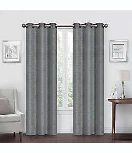 Cortinas blackout de poliéster Simply Essential™ Shimmer de 2.13 m color gris