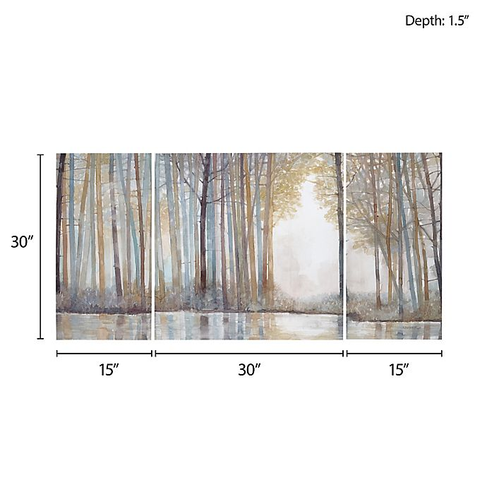 Madison Park Forest Reflections Gel Coated Canvas Wall Art Set Of 3 Bed Bath Beyond