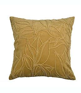 Cojín decorativo cuadrado de terciopelo Bee & Willow™ Botanical color oro