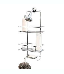 Organizador para regadera de acero Simply Essential™ de 3 niveles color cromo