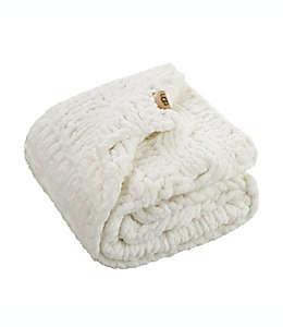Frazada de poliéster UGG® Clemens color blanco nieve