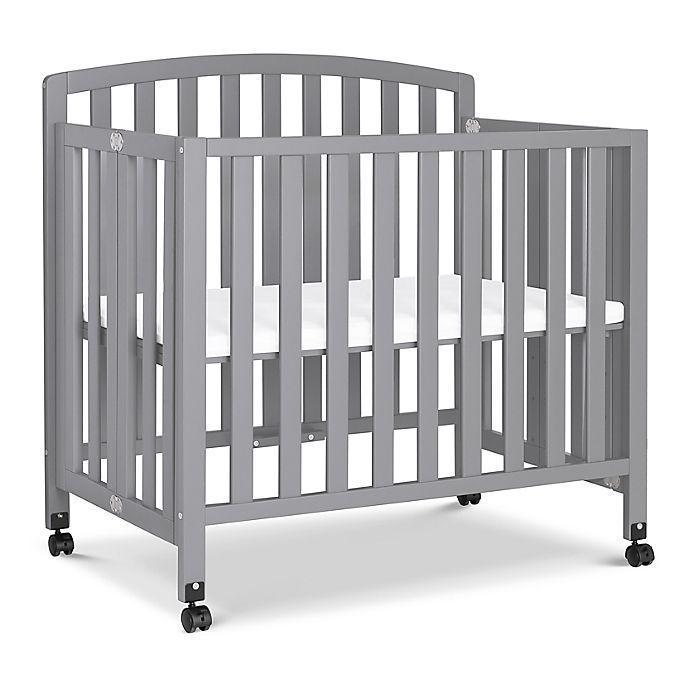 Davinci Dylan Folding Portable 3-in-1 Mini Crib And Twin Bed - Gray