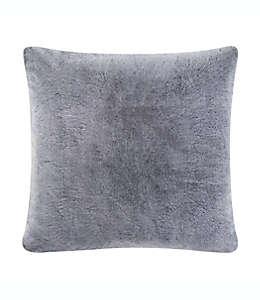 Funda decorativa de poliéster tamaño europeo UGG® Dawson color gris carbón
