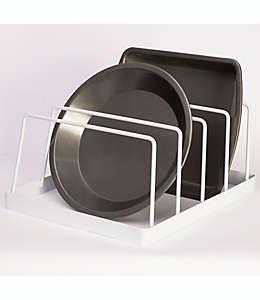 Organizador de acero para gabinetes Simply Essential™ color blanco brillante